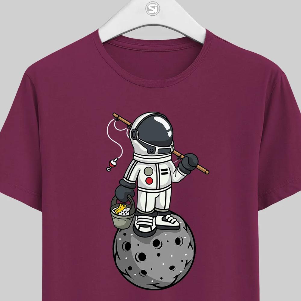 maglietta a tema astronauta unisex manica corta