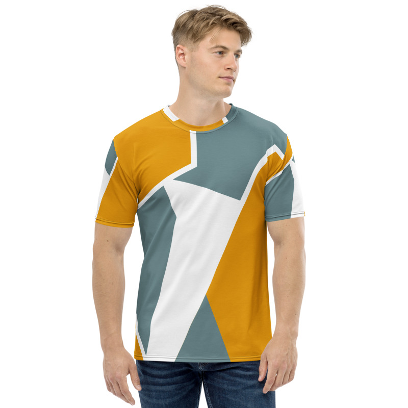 Maglietta uomo stampa full decorazione geometrica