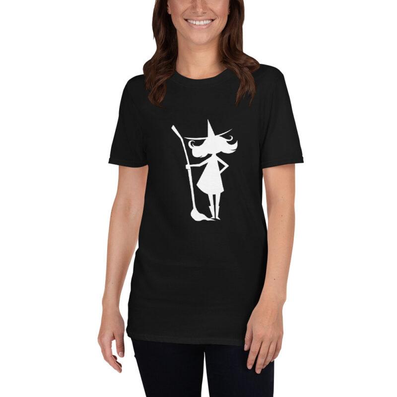 Maglietta donna con Strega e scopa - Halloween