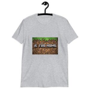 Maglietta bambino Minecraft - Personalizzala con il nome che vuoi