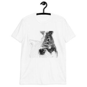 maglietta con Zebra effetto disegno matita