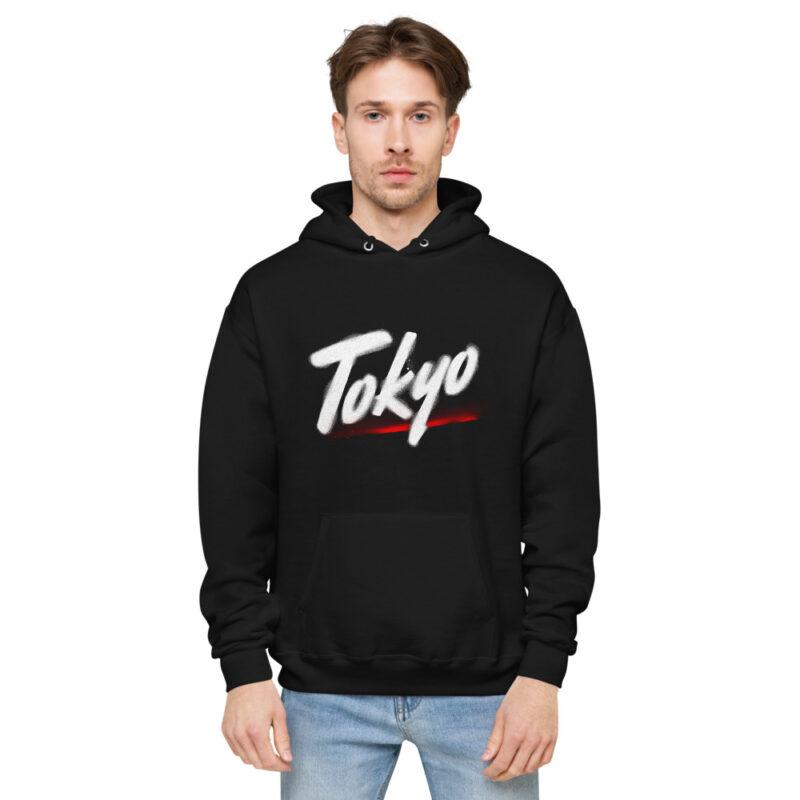 Felpa Uomo con cappuccio personalizzata con grafica Tokyo