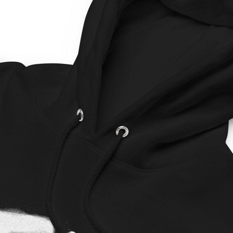 Dettaglio Felpa con cappuccio personalizzata con grafica Tokyo